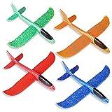 ZoneYan Planeador de Espuma, Avión de Lanzamiento, Lanzar Manual Planeador, Mano Lanzamiento Glider Aviones, Juguete Planeador Espuma, Modelo de Avion Deportes al Aire