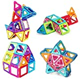 Morkka Bloques de construcción de Bloques magnéticos de 104 Piezas Juegos educativos para niños, de Construction Building Sets (76 pcs)