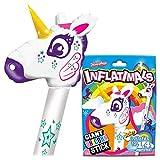 Inflatimals Animales inflables - Unicornio de Deluxebase. Juguete Inflable Gigante con Lindo diseño. Excelente Regalo para niños o como artículo Decorativo en Fiestas Infantiles