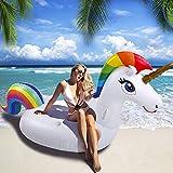 NEWYANG Unicornio Inflable Colchoneta - Juguete Hinchable Unicornio Piscina,PVC Adecuado para Piscinas de Verano y Playa para Adultos y Niños (Tamaño Grande)