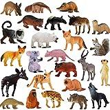 Juguete de animales de Zoo World, juego de 25 piezas de animales de la selva realistas (10 cm), plástico, para niños y niñas Gran idea de regalo o recuerdo de fiesta para niños