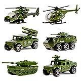 6 vehículos de guerra