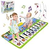 BelleStyle Alfombra para Música, Alfombra para Piano, Estera de Baile, Juguete Musical Bebé Actividad Alfombrilla de Suelo Animal Teclado Táctil Tapete Juego para Niños - 135*59cm