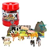 ColorBaby -  Bote con animales de granja de Animal World, 22 piezas(43434) , color/modelo surtido