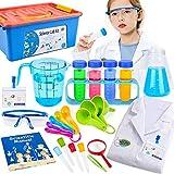 Tacobear Juegos Experimentos para Niños Ciencia Experimentos Kit con Química Juguete Bata de Laboratorio Disfraz de Científico Juego de rol Regalo para niños