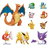 Figuras de Acción Pokémon, Charizard, Magikarp, Haunter, Eevee, Charmander, Squirtle, Pikachu, Bulbasaur, Jigglypuff & Jolteon, Detalles Auténticos Oficiales, Multi Pack de 10