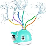 Juguete de Rociador, Juguete de Agua de Rociadores de Ballenas Juguete de Spray de Agua para niños con 6 Tubos de Colores Rociadores,Juegos al Aire Libre,Juegos acuáticos de Verano para niños