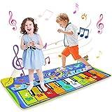 LEADSTAR Juguetes Niños 1 2 3 Años, Alfombra Musical Piano para Niños Alfombrilla de Baile Teclado Estera de Alfombra Touch Juego Musical Portátil Educativo Musical Tapete, Juguete Electrónico Regalos