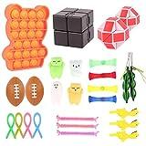 colmanda 27 Pcs Kit Juguetes Sensoriales, Juego de Juguetes Sensoriales Fidget para Alivio, Libera Estrés y Ansiedad Toys para Niños Regalos Fiesta de Cumpleaños