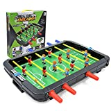Calistouk Juguete de futbolín 6 Disparos máquina de fútbol de Mesa pequeño,Juego multijugador para niños Fiesta Familiar Juegos de Mesa de Rompecabezas