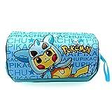 Pokemon Plumieres/Estuches Anime Infantil Jóvenes Pikachu Caja de Lápices Niña Pikachu Teenager Schulmaeppchen Bleistiftkoffer Manga Bleistiftbeute Pokemon Estuche - 1, OS
