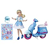 Disney Princess Muñeca Cenicienta Y Scooter, Multicolor, (Hasbro E89375L0)