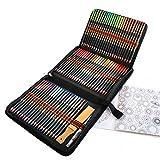 Lapices Acuarelables Profesional, Juego de 72 Lápices de Colores para capas expertas, Mezcla y Sombreado, Perfecto para Libros de Colorear o útiles escolares para Adultos y Niños