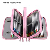 Estuche para lápices ToWinle, bolsa de 72 compartimentos, gran capacidad para estudiantes (Pink)