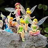 Bellupai 6 figuras miniaturas de hadas, hadas de jardín, hadas, colección de figuras de hadas, muñeco, decoración para cupcakes, decoración de jardín