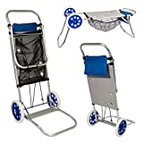 Aktive 53928 Carro portasillas playa aluminio Beach, 52 x 37 x 105 cm