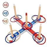 EUTOYZ Juguetes para Niños 3-7 Años, Juego de Lanzamiento de Anillos Juegos Jardin Juguetes Exterior para Niños Juegos Aire Libre para Niños Regalos Niño 3 4 5 6 7Años Niños