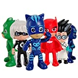 PJ Masks Juguetes 6 Pcs Figuras de dibujos animados populares en movimiento - PJ Masks Toys 6 Pcs Moving Figures Popular Cartoon Figure Toys