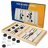 Gr8ware Juego de hockey de madera, juego de mesa de juego de mesa de juego de mesa de batalla interactiva para padres e hijos de ajedrez de juguete de ajedrez para niños y adultos