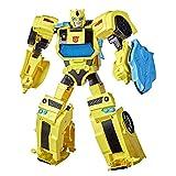 Transformers Bumblebee Cyberverse Adventures Battle Call Officer Class Bumblebee, Luces y Sonidos de energía activados por Voz, Edades de 6 y más de 10 Pulgadas