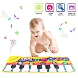 Tapete para piano, juguete con tapete para niños, tapete de baile para niños de 3 a 36 meses de regalo para bebés y niños pequeños (amarillo)