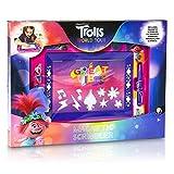 TROLLS Pizarra Infantil, Pizarra Magnetica Infantil con Personaje Poppy Troll Pizarra Magica con Rotuladores Niños Magneticos y Sellos, Juguetes para Niños y Niñas