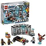 LEGO 76167 Marvel Avengers Super Heroes Armería de Iron Man, Juguete de Construcción de Vengadores con Mini Figura de Tony Stark