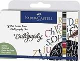 Faber-Castell 167508 Pitt Artist Pen Calligraphy - Juego de lápices (2,5 mm, 8 unidades), multicolor