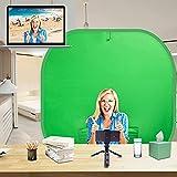 Pantalla Verde Croma: Comprar Chroma Key Fondo Fotografia Green Screen - 2 en 1 Verde Croma Azul Pantalla Plegable 150*150cm