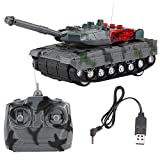RC Control Remoto Tanque Modelo eléctrico Tanque de Juguete Niños Juguete de Regalo 2.4G 4CH Tanque de Bloques de construcción Giro de 360 Grados