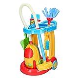 PlayGo - Carrito de limpieza con aspiradora eléctrica CBtoys (44588)