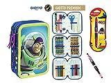 Cerdà Plumier Estuche Artesanía Premium de Cremallera Triple 3 Pisos Toy Story - Buzz - 43 Piezas Contenido Giotto + Regalo