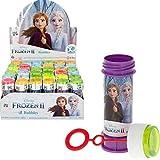 ColorBaby - Caja de 36 pomperos, pomperos Frozen, pomperos para niños, juguete burbujas jabón, jabón pompero, regalo para niños, 60 ml, cuatro colores