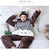 DUJUN Pijama de Franela para Mujer, Albornoces Gruesos de Invierno, Trajes de camisón con Capucha de Dibujos Animados, Linda Ropa para el hogar, una Variedad de Estilos, A23 XL
