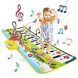 LEADSTAR Alfombra Musical, Juguetes para Niños de 2 3 4 5 Años, Alfombra de Baile, 8 Instrumentos Suenan Alfombra Piano, Educativo Juguete Regalo para Bebé Niños Niño Niña (100*36cm)