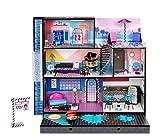 LOL Surprise OMG , Casa de Muñecas de Madera Real con más de 85 Sorpresas , Incluye Dormitorio, Baño, Cocina, Armario de Moda y Más , 91 x 91 cm