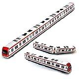 Modelo del tren, 4pcs Juguete del coche fijó el modelo del tren del subterráneo del ferrocarril de la ciudad de la aleación, metro de la aleación de la escala 1/64 / modelo del coche ToysPlay