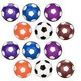 Futbolín de Recambio 12pcs, Oziral Balones de Fútbol ABS Plástico para Juego de Juguete Infantil