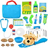 Vanplay Maletín Veterinaria con Perritos de Juguete Perro de Peluche Juegos de Imitación para Niños y Niñas 3 4 5