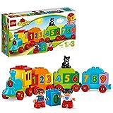 LEGO 10847 Duplo Tren de los números, Juguete Educativo con Ladrillos Grandes para Aprender a Contar para Bebés +1,5 años