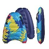 Tabla de surf hinchable Bigtree, ligera y portátil, con asas, tabla de natación suave para nadar, aprender a nadar, adecuado para adultos y niños, diversión en piscina acuática en verano