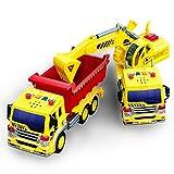 Dos camiones para obra de juguete