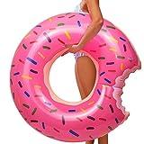 YIJIAOYUN Anillo de natación Inflable de Donut de Fresa Gigante, Gran Juguete de Playa de Piscina de Verano, Flotador de Piscina de Tubo de natación para Adultos