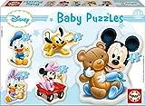 Educa - Baby Mickey Mouse 5 Puzzles Orogresivos de 3 a 5 Piezas, Multicolor (13813)
