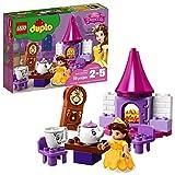 LEGO DUPLO Princesa - Fiesta de Té de Bella, Juguete de Construcción de la Bella y la Bestia con Chip y Din Don (10877)