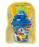 Mickey y Los Superpilotos- Mickey and The Roadster Racers Mochila de Playa Completa, Color (Smoby 863038)