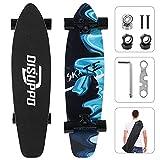 DISUPPO Cruiser Skateboard, patineta Completa para Principiantes, 7 Capas de Arce de Nivel A, Doble Patada cóncava estándar y patinetas de Trucos para niños Adolescentes (Ondas de ensueño)