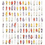 120 Piezas Figuras de Personas en Miniatura para Modelismo, Modelo a Escala| Mezcla Pintada, Durable| Tren Ferrocarril Parque Calle Jardín Pasajero Juguetes Escolar para Niños y Adultos.
