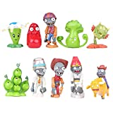 WenWiuir Plants vs. Zombies Estatuilla de Juguete Mini Figuras 10Pcs Figuras de Juguete Decoración Juguete Gran Regalo for niños (Color : A01, Size : 4-7cm)