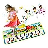 EXTSUD Alfombra Piano de Suelo Alfombrilla Musical Estera de Baile Tapete para Niños 100 * 36cm